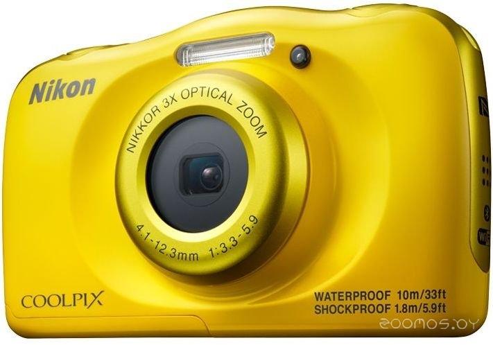 Цифровая фотокамера NIKON Coolpix W100 (Yellow)