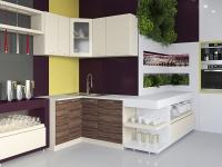 Кухня Артем Мебель Жасмин МДФ (ваниль/слива)