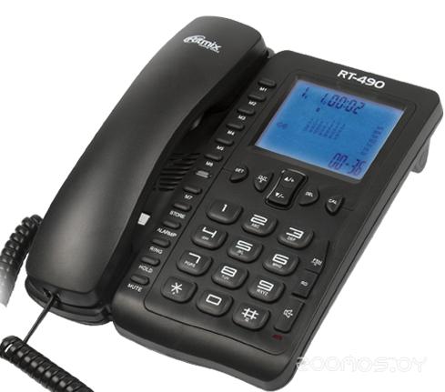 Проводной телефон Ritmix RT-490 (Black)