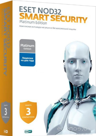NOD32 Smart Security (3 ПК, 2 года)