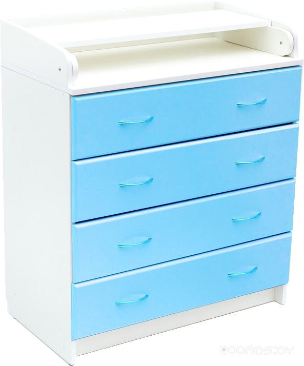 Комод Bambini В01.10.01 МДФ (бело-голубой)