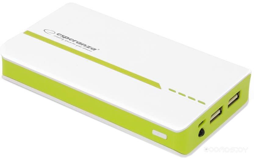 Портативное зарядное устройство Esperanza Atom 11000mAh (White-Green)