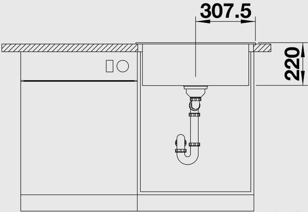 Кухонная мойка Blanco Pleon 6 (Темная скала)