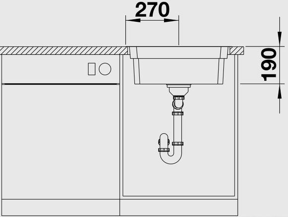 Кухонная мойка Blanco Etagon 500-IF (Нержавеющая сталь)