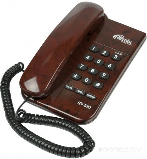 Проводной телефон Ritmix RT-320 (Coffee)