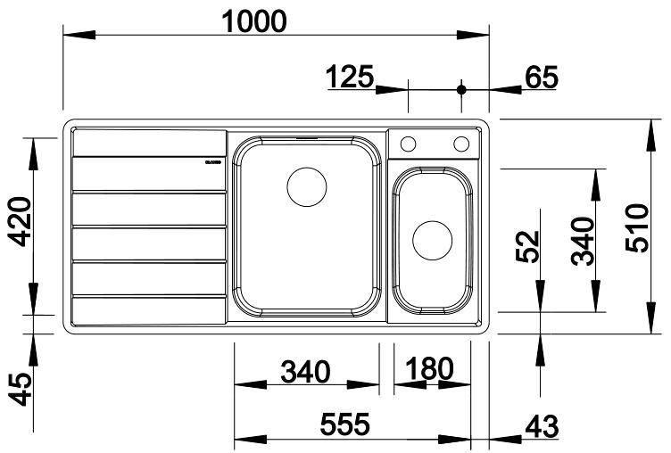 Кухонная мойка Blanco Axis III 6S-IF (Нержавеющая сталь)