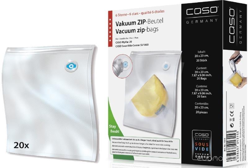 Пакеты для вакуумного упаковщика Caso VC ZIP 20x23