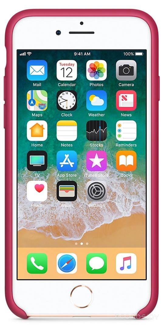 Чехол Apple Leather Case для iPhone 8 / 7 Pink Fuchsia
