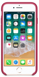 Apple Leather Case для iPhone 8 / 7 Pink Fuchsia