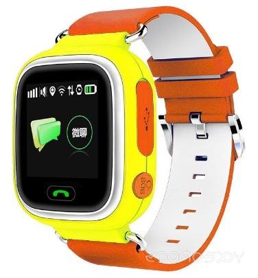 Умные часы Smart Baby Watch Q80 (Yellow-Orange)