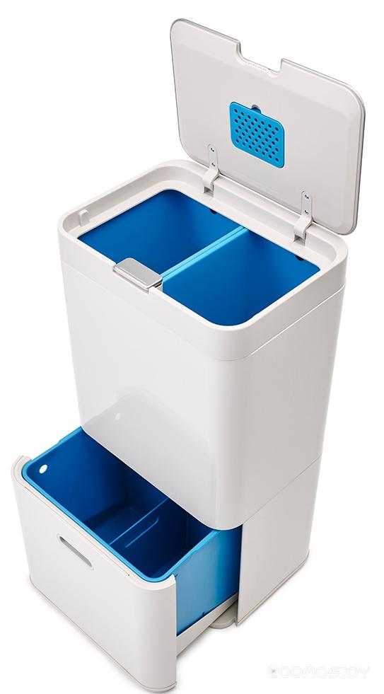 Контейнер для сортировки мусора Joseph Joseph Totem Recycler 58 л (White)