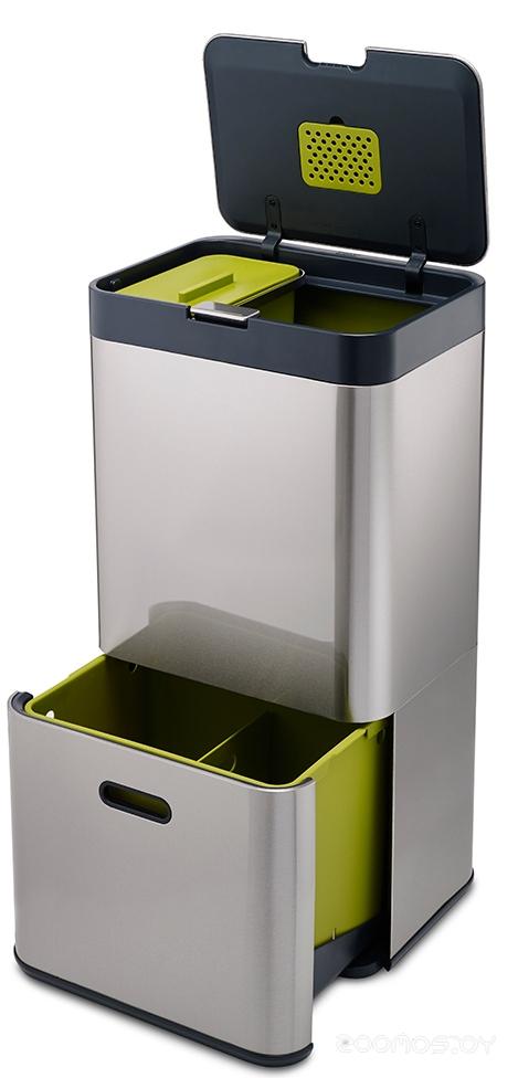 Контейнер для сортировки мусора Joseph Joseph Totem 60 л (Steel)