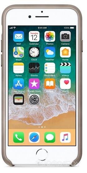 Чехол Apple Leather Case для iPhone 8 / 7 Taupe