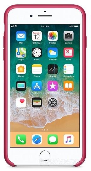 Чехол Apple Silicone Case для iPhone 8 Plus / 7 Plus Rose Red