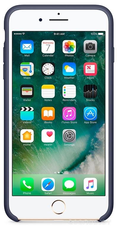 Чехол Apple Silicone Case для iPhone 8 / 7 Midnight Blue