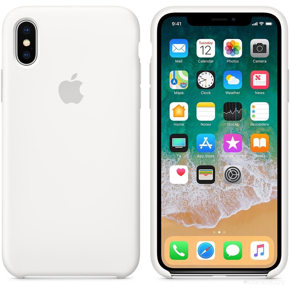 Чехол Apple Silicone Case для iPhone X White