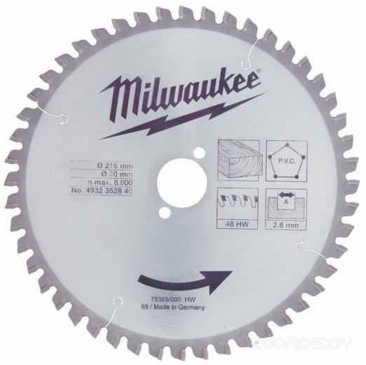 Диск пильный по дереву Milwaukee 216/30 Z48