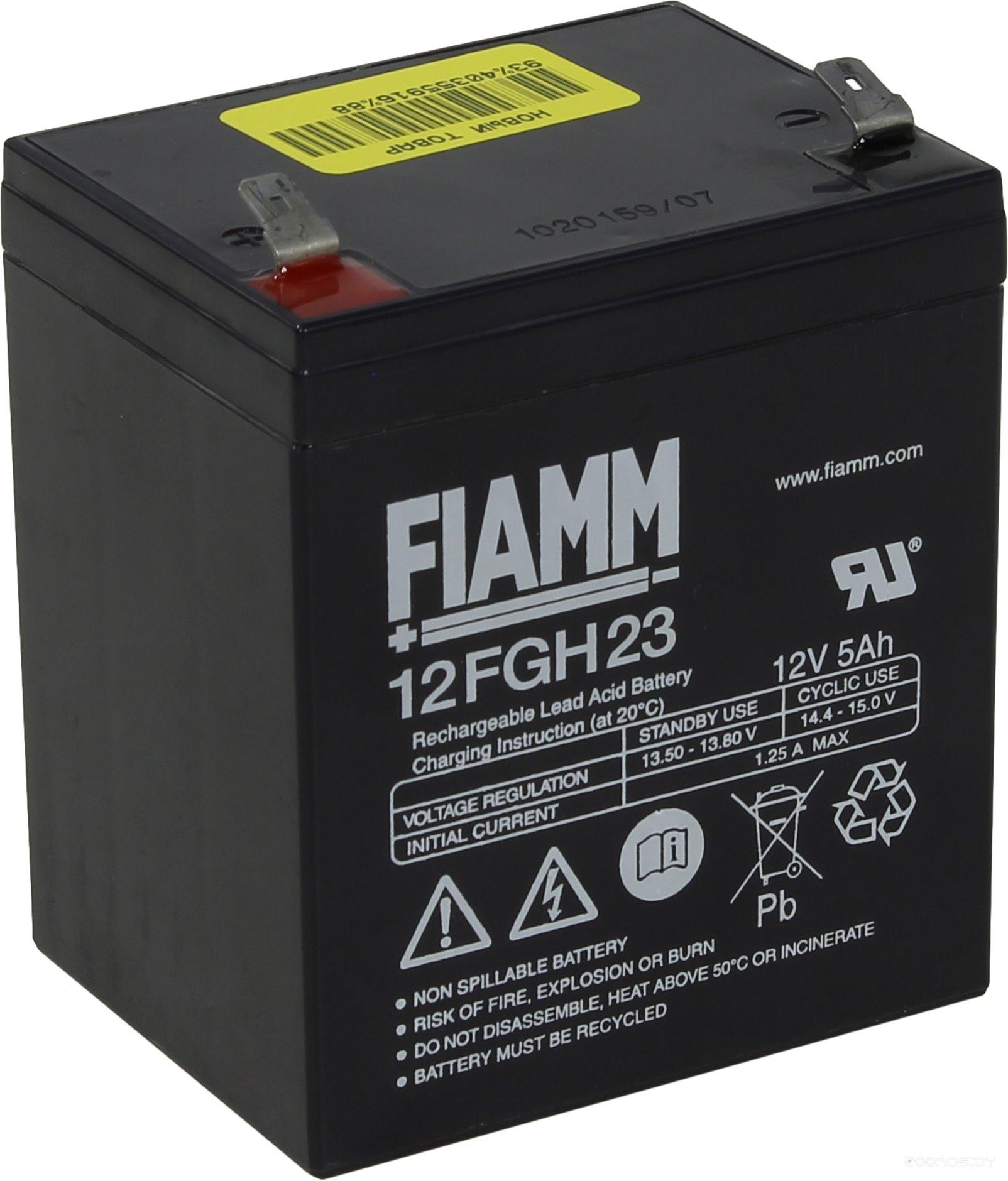 Аккумулятор для ИБП FIAMM 12FGH23 (12В/5 А·ч)
