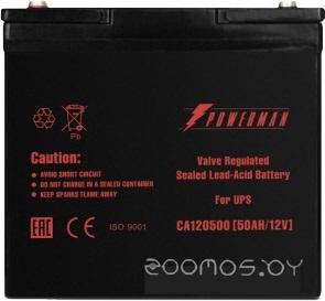 Аккумулятор для ИБП POWERMAN CA12500/UPS (12В/50 А·ч)