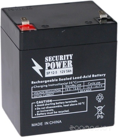 Security Power SP 12-5 F1 (12В/5 А·ч)