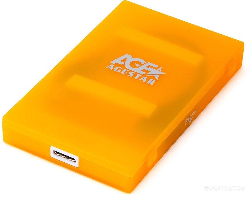 Бокс для жесткого диска Agestar 3UBCP1-6G (оранжевый)