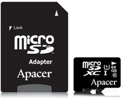Карта памяти Apacer AP64GMCSX10U1-R