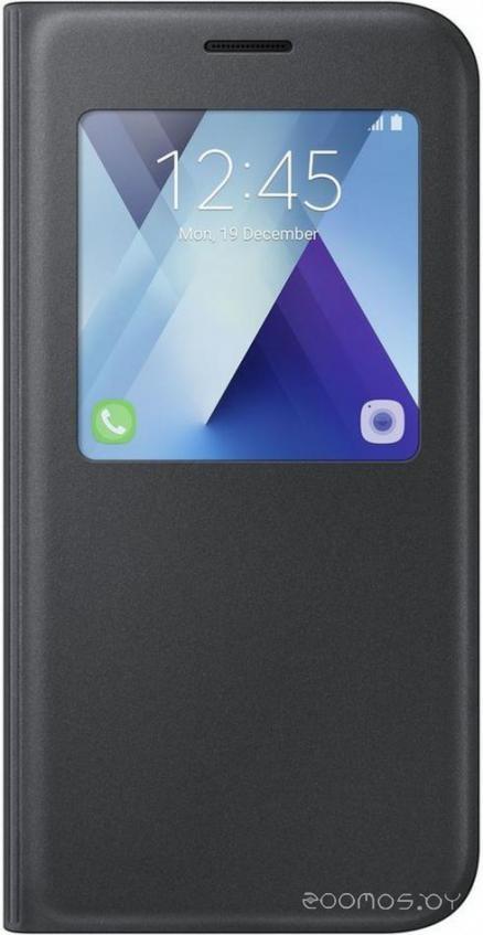 Чехол Samsung S View Standing для Galaxy A7 (черный) [EF-CA720PBEGRU]