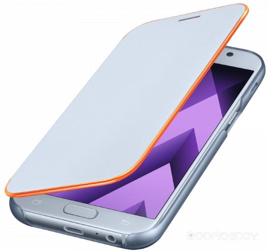 Чехол Samsung Samsung Neon Flip Cover A7 (2017) (Light Blue)
