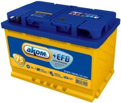 AKOM 6СТ-75 Евро+EFB