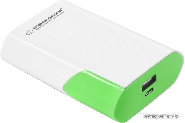 Портативное зарядное устройство Esperanza Boson 6000 (White/Green)