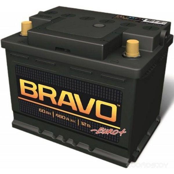 Автомобильный аккумулятор Bravo 6СТ-60 Евро