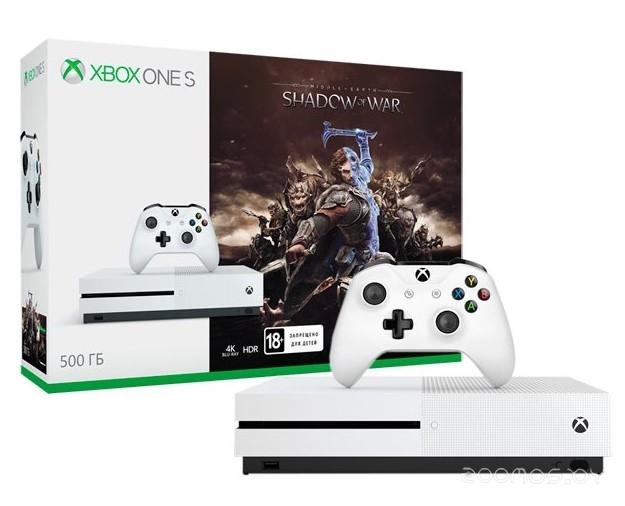 Игровая приставка Microsoft Xbox One S 1 ТБ + Assassins Creed Origins+Tom Clancys Rainbow Six Siege
