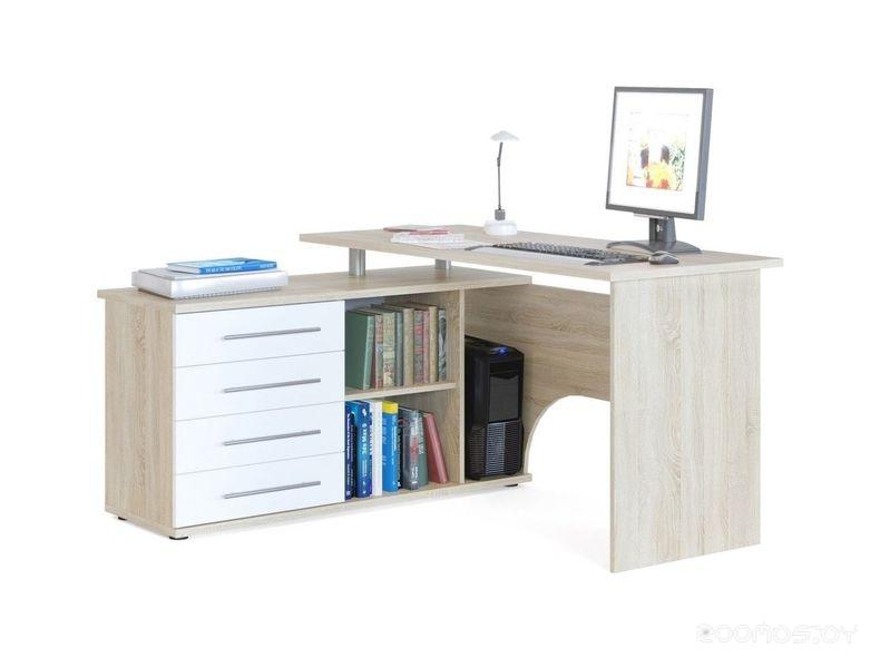 Компьютерный стол Сокол КСТ-109Л (Oak Sonnom/White)
