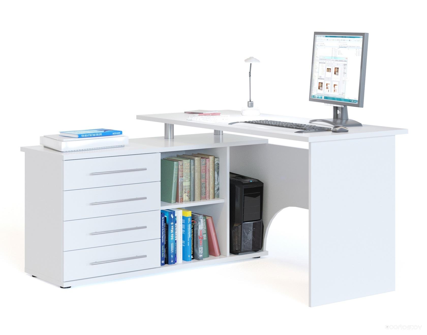Компьютерный стол Сокол КСТ-109Л (White)