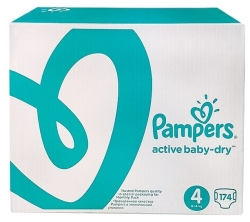 Pampers Active Baby-Dry 4 Maxi 174 шт