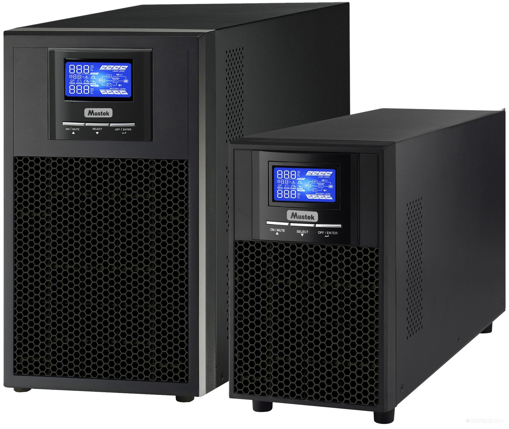 Источник бесперебойного питания Mustek PowerMust 1000 LCD Online IEC