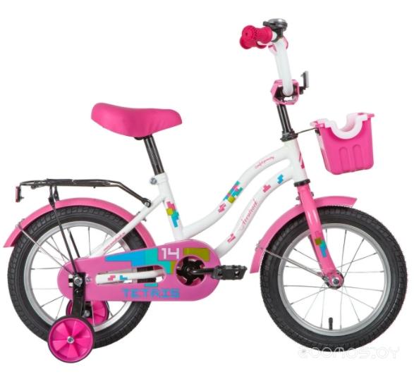 Детский велосипед Novatrack Tetris 14 (белый)
