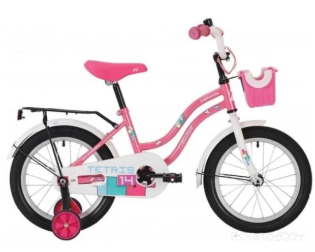 Детский велосипед NOVATRACK Tetris 14 (розовый)