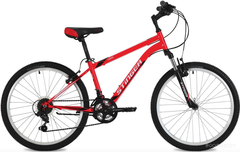 Велосипед Stinger Caiman 24 (красный, 2018)