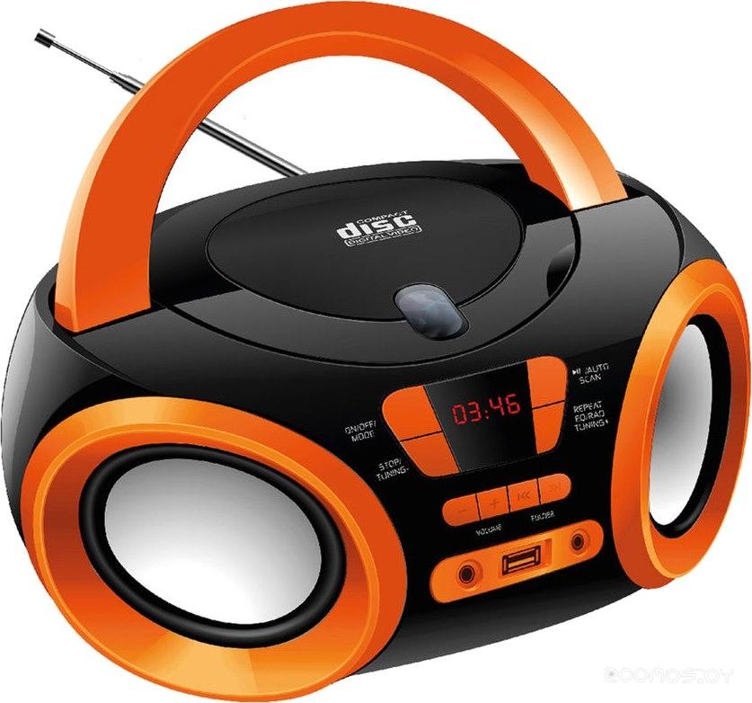 Магнитола Hyundai H-PCD120 (Black-Orange)