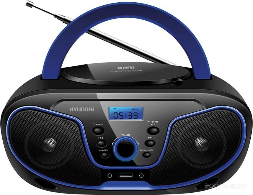 Магнитола Hyundai H-PCD160 (Black-Blue)