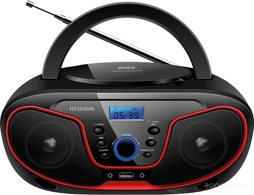 Магнитола Hyundai H-PCD180 (Black-Red)
