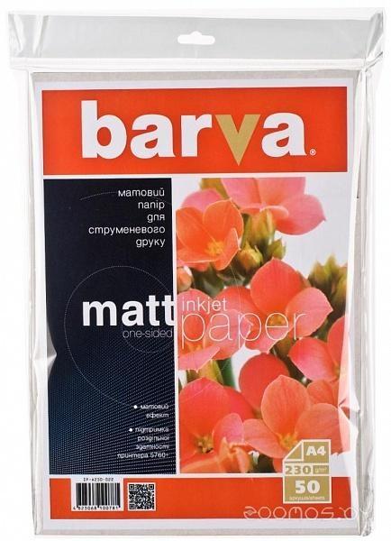 Фотобумага Barva матовая А4 230 г/м2 50 л [IP-A230-022]