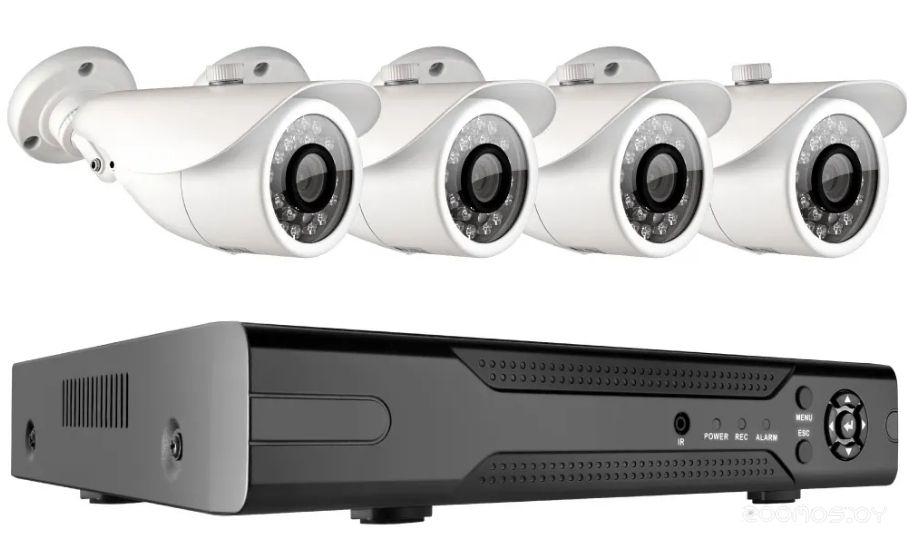 Видеорегистратор наблюдения Ginzzu HK-443D (+4 камеры)