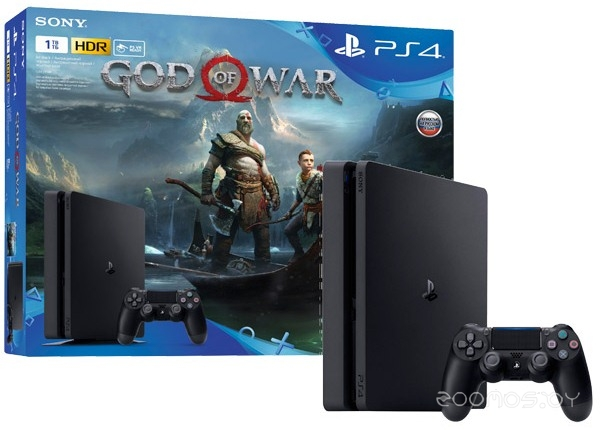Игровая приставка Sony PlayStation 4 1Tb + God of War ST + Dualshock 4