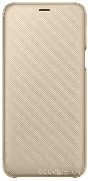 Чехол Samsung Wallet Cover для Samsung Galaxy A6+ (золотистый)