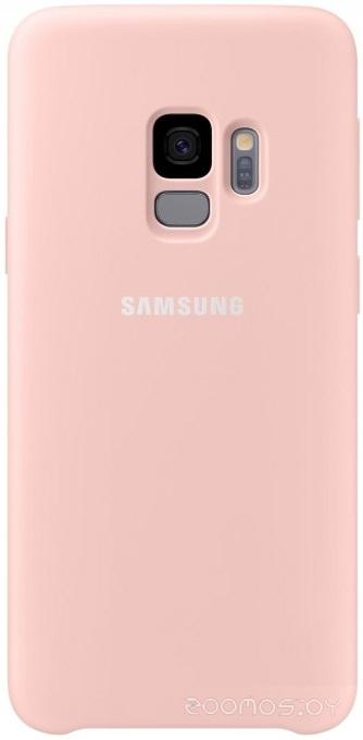 Чехол Samsung Silicone Cover для Samsung Galaxy S9 (розовый)