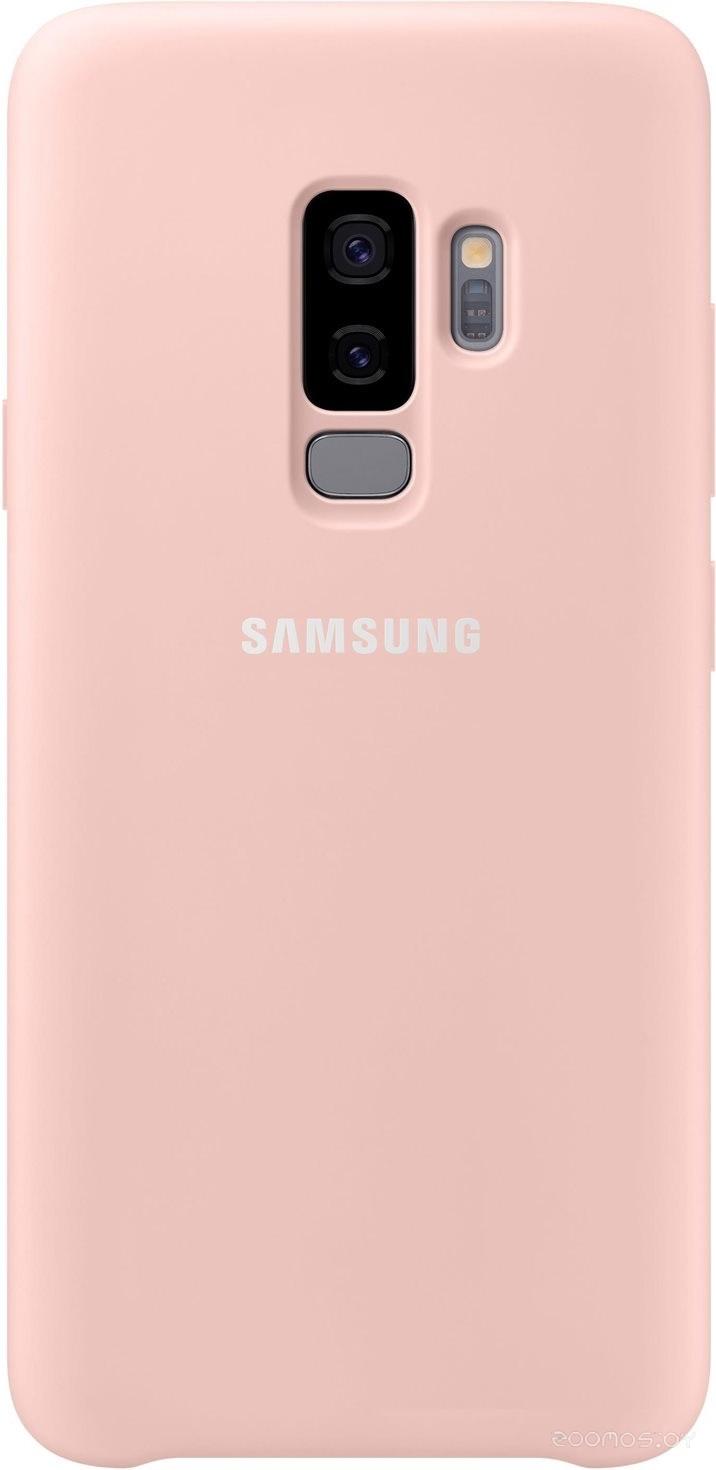 Чехол Samsung Silicone Cover для Samsung Galaxy S9 Plus (розовый)