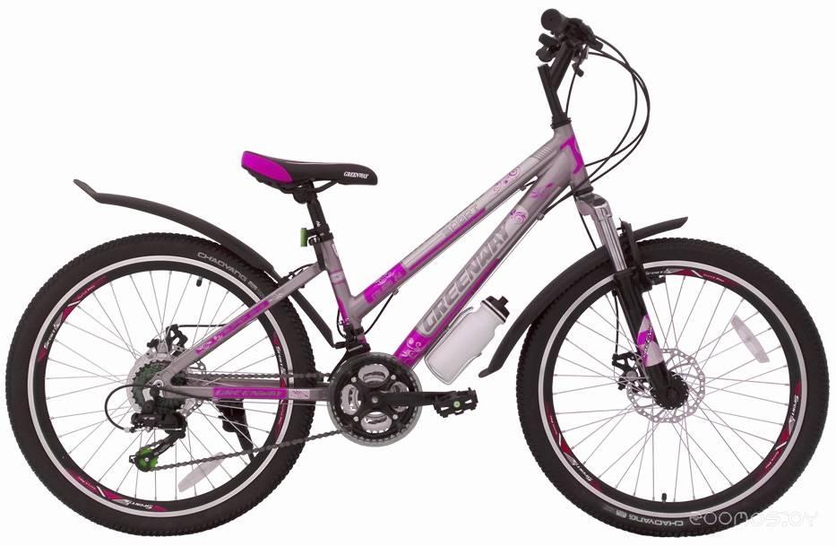 Велосипед Greenway Colibri 24 (2018) (Silver-Pink)