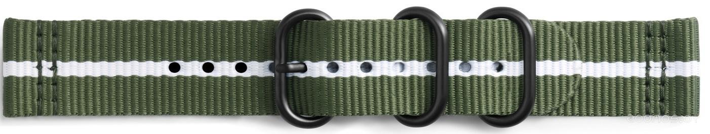 Сменный ремешок Samsung Premium Nato Band для Gear Sport (Green-White)